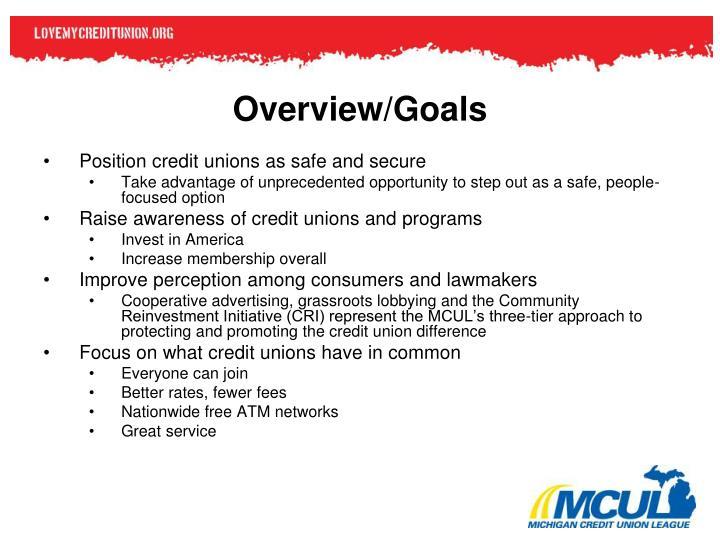 Overview/Goals