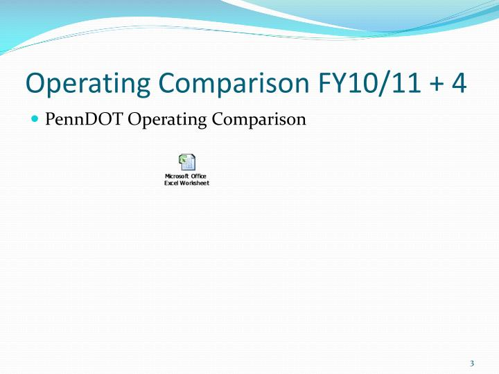 Operating comparison fy10 11 4