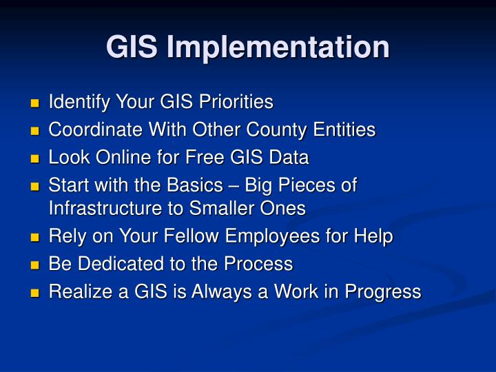 GIS Implementation