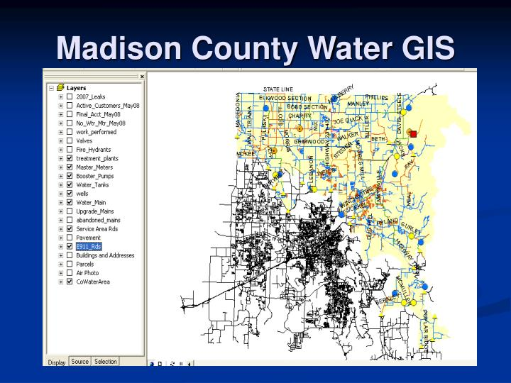 Madison County Water GIS