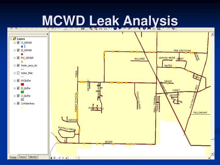 MCWD Leak Analysis