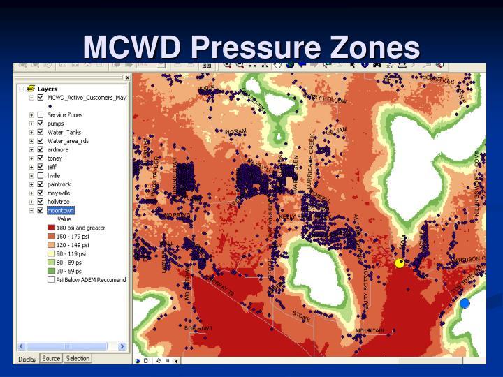 MCWD Pressure Zones