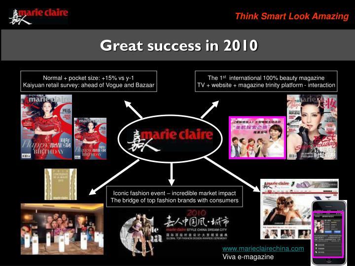Great success in 2010