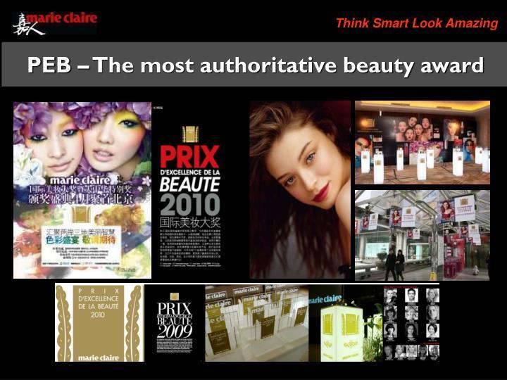 PEB – The most authoritative beauty award