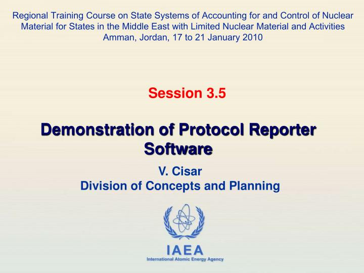 Regional Training Course on State Systems of Accounting for and Control of Nuclear