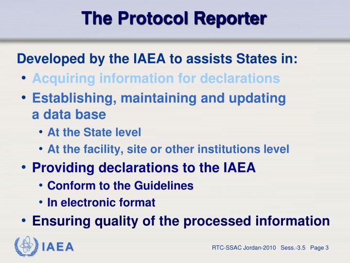 The Protocol Reporter