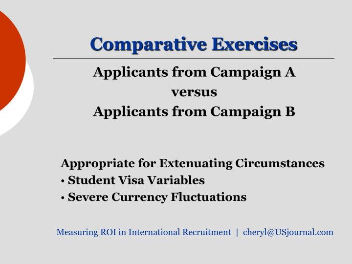 Comparative Exercises