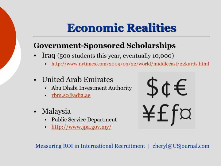 Economic Realities