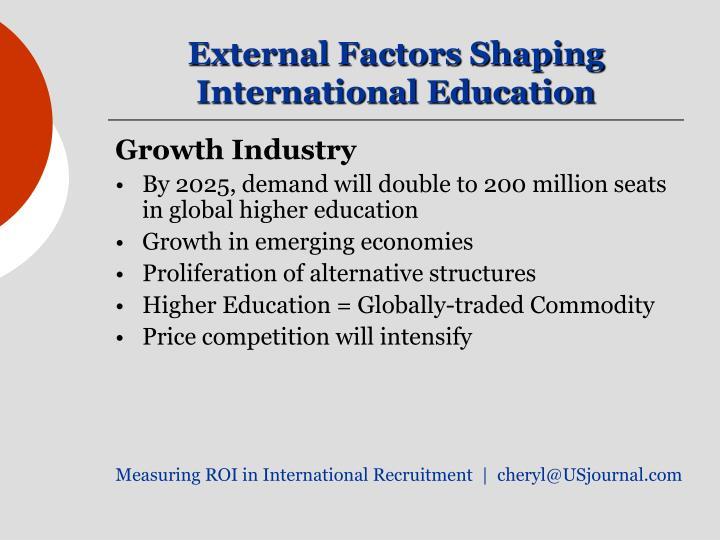 External Factors Shaping International Education