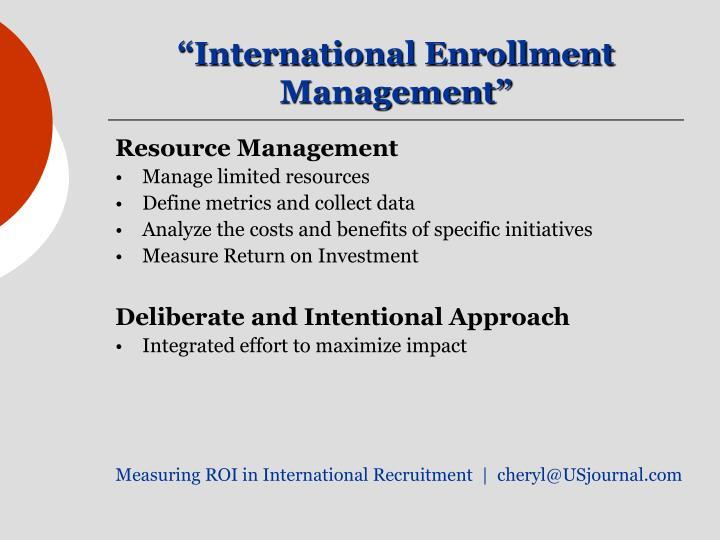 """International Enrollment Management"""
