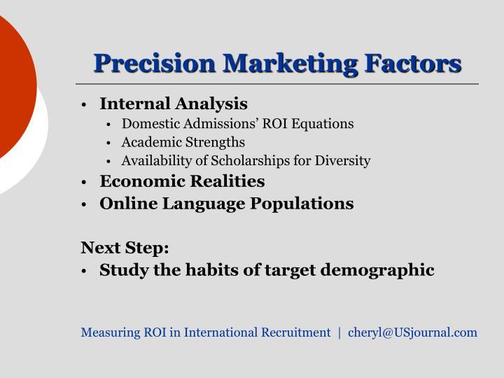 Precision Marketing Factors