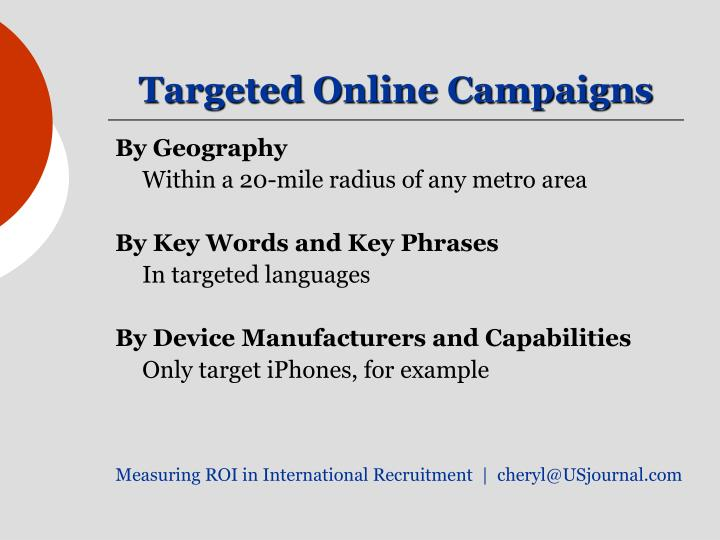 Targeted Online Campaigns