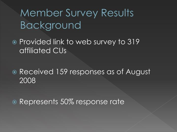 Member Survey Results