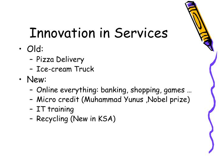 Innovation in Services