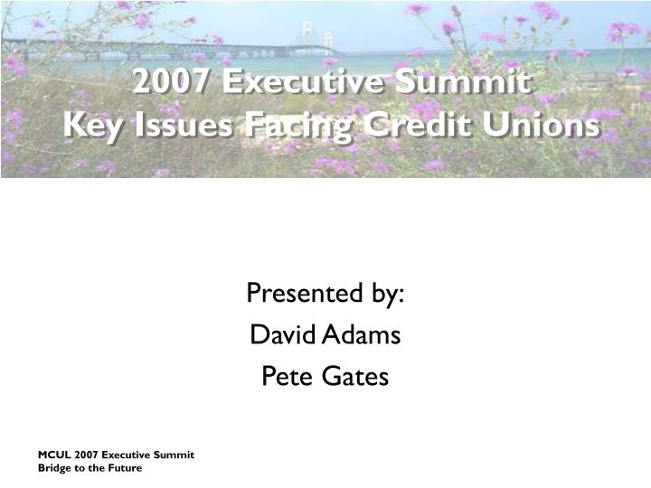 2007 Executive Summit