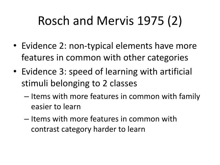 Rosch and Mervis 1975 (2)