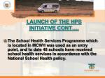 launch of the hps initiative cont