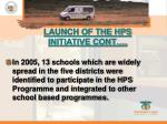 launch of the hps initiative cont1