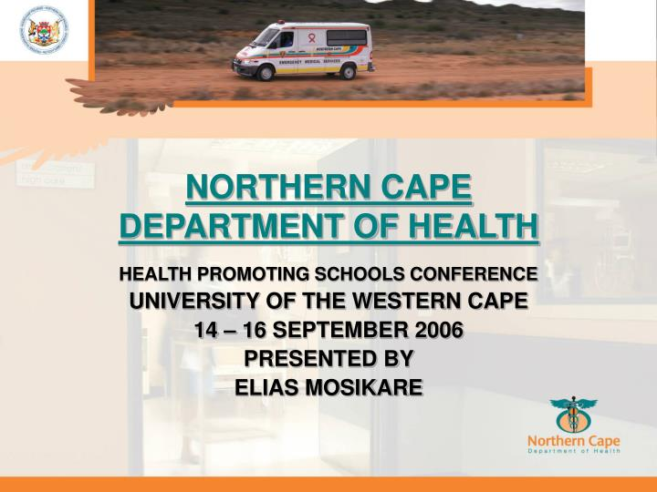 Northern cape department of health