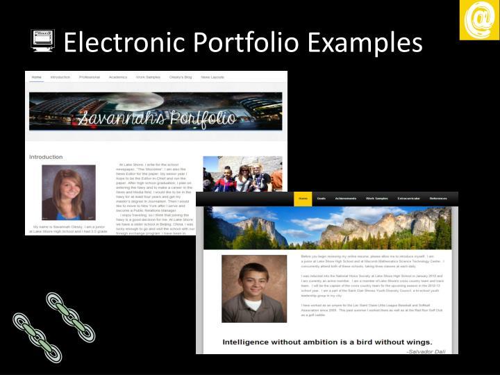 Electronic Portfolio Examples