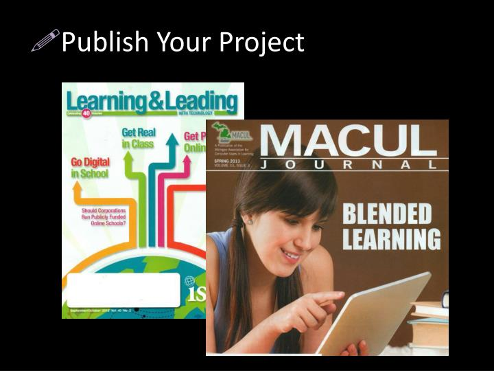 Publish Your Project