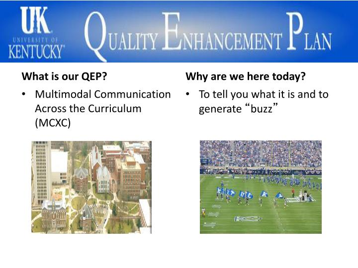 What is our QEP?