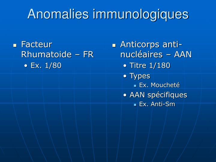 Facteur Rhumatoide – FR