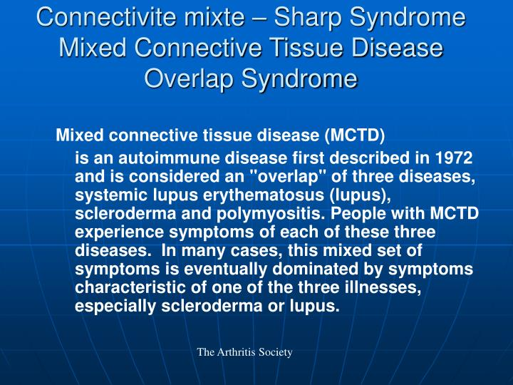 Connectivite mixte – Sharp Syndrome