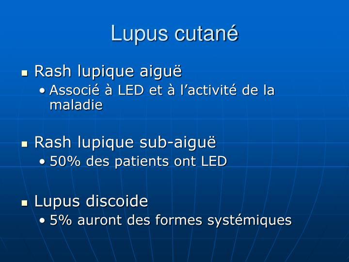 Lupus cutané