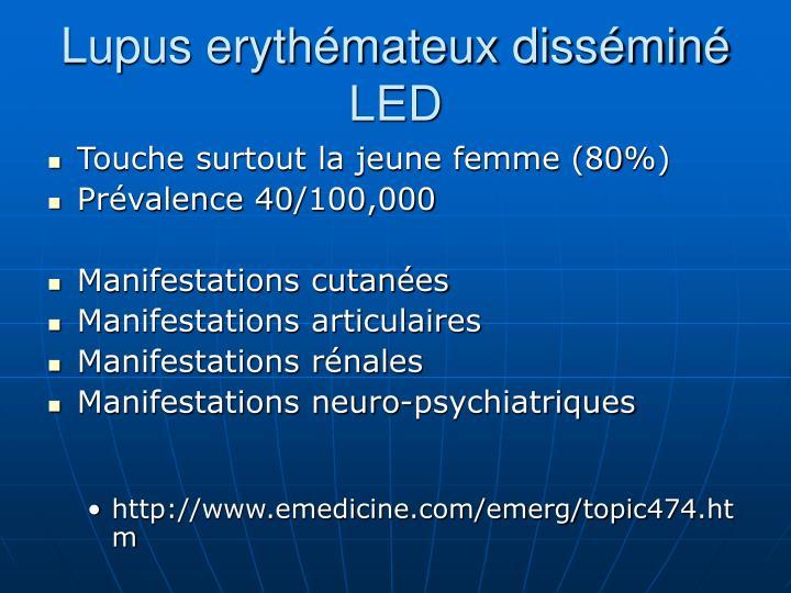 Lupus erythémateux disséminé