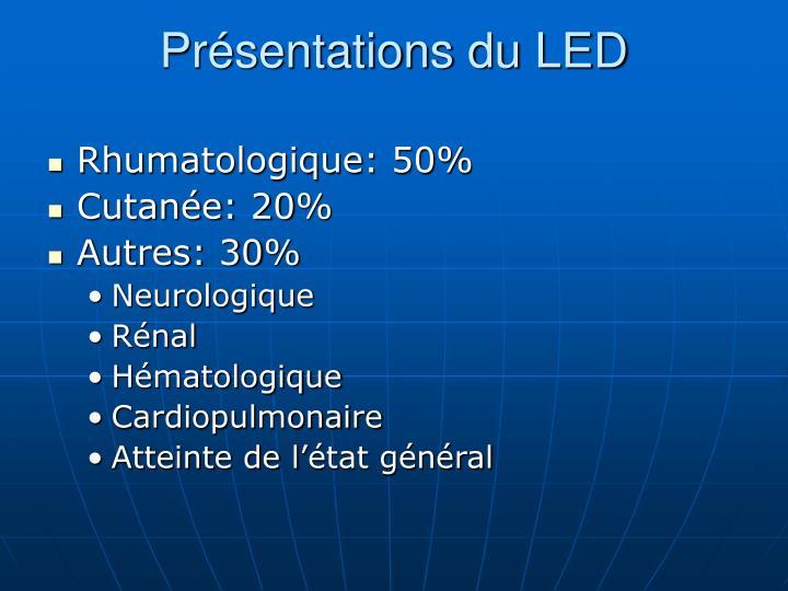 Présentations du LED