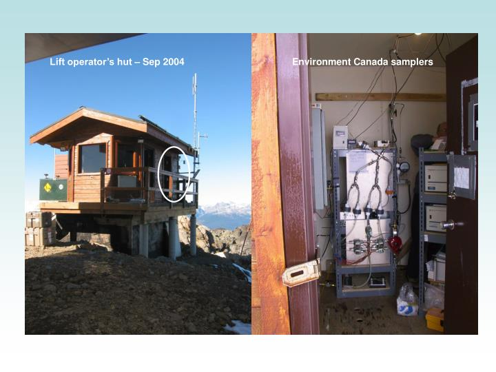 Lift operator's hut – Sep 2004