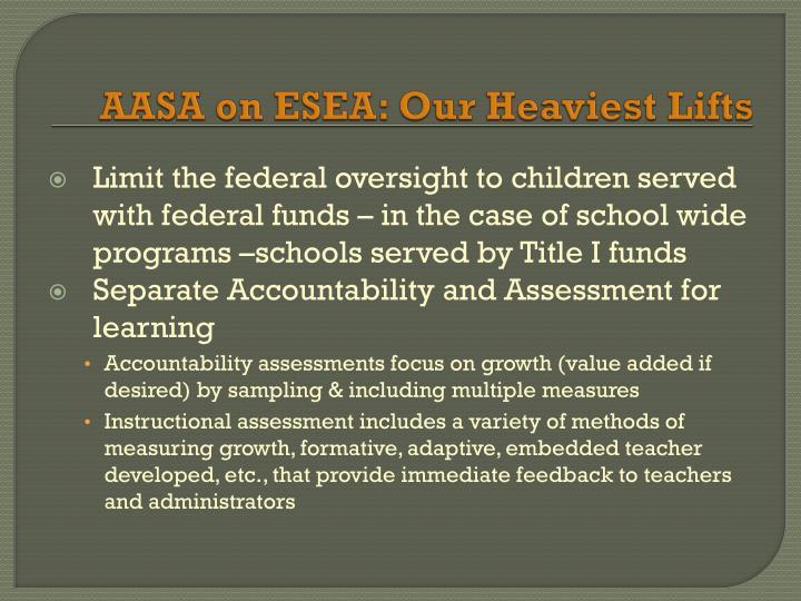 AASA on ESEA: Our Heaviest Lifts