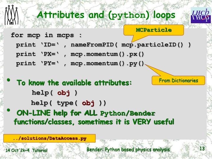 Attributes and (