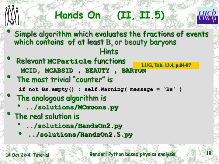 Hands On    (II, II.5)