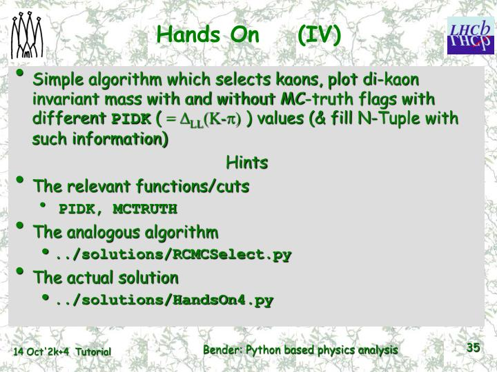 Hands On    (IV)