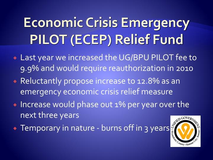 Economic Crisis Emergency PILOT (ECEP) Relief Fund