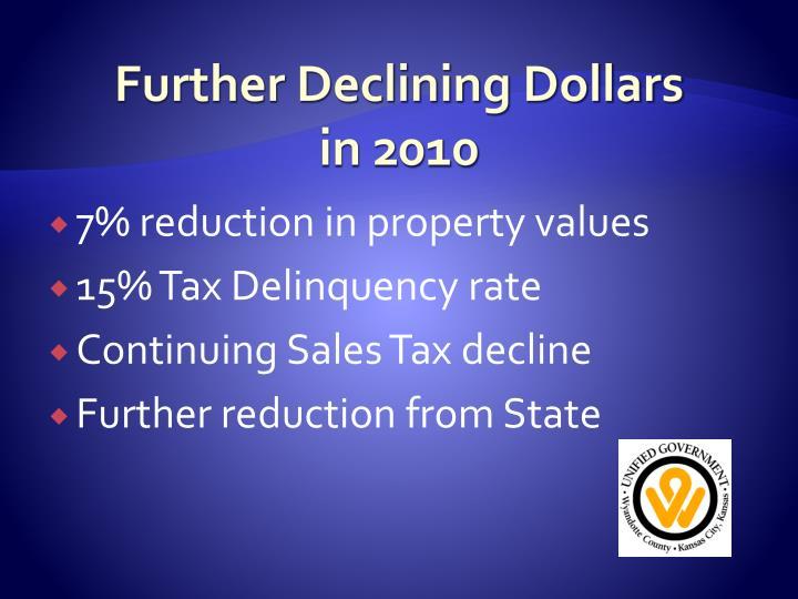 Further Declining Dollars