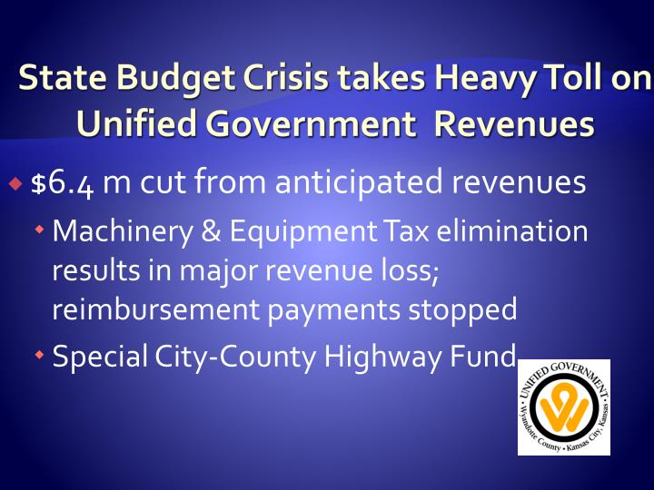 State Budget Crisis takes Heavy Toll on