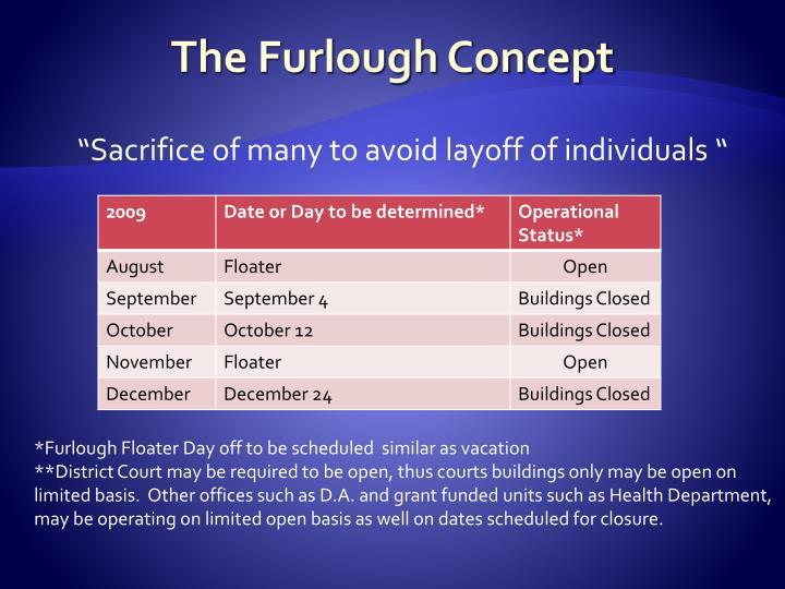 The Furlough Concept