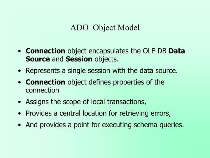 ADO  Object Model