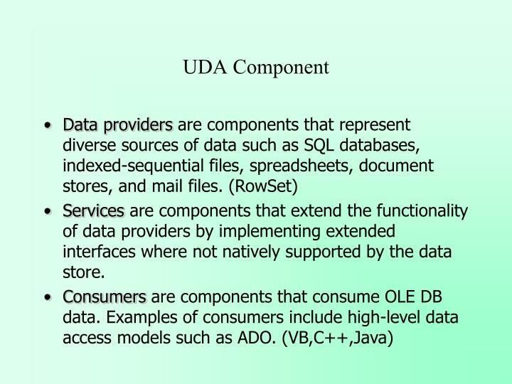 UDA Component