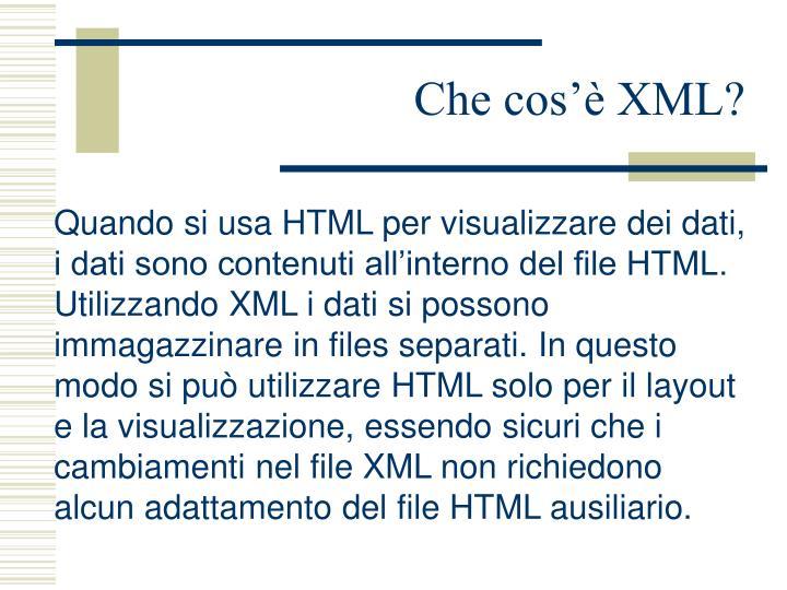 Che cos'è XML?
