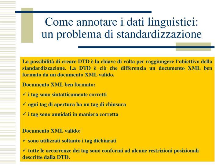 Come annotare i dati linguistici: