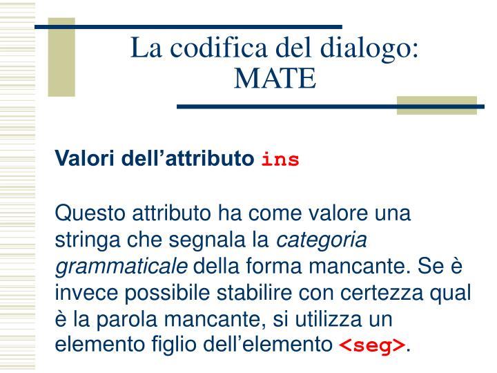 La codifica del dialogo: