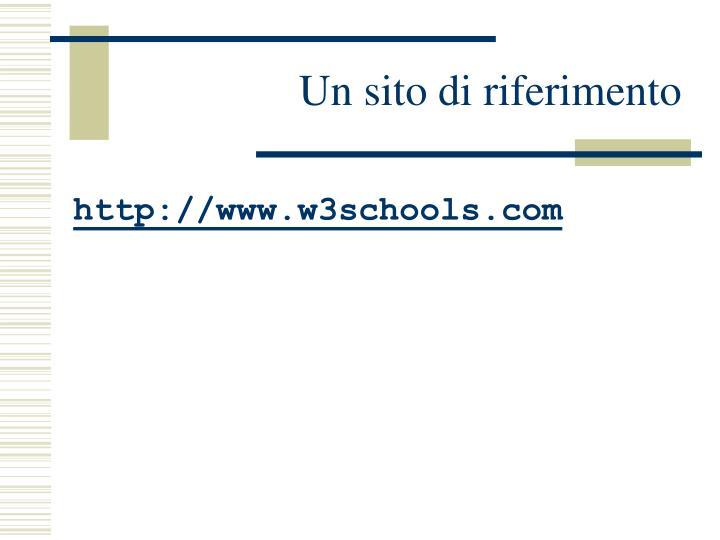 Un sito di riferimento