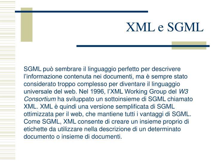 XML e SGML