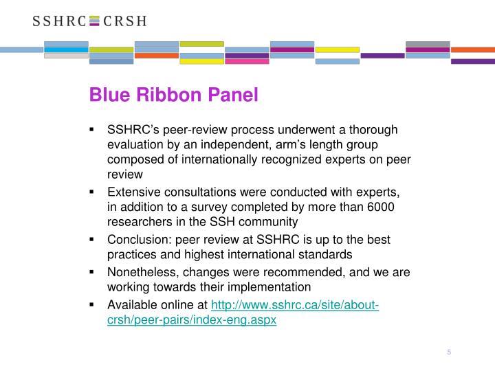 Blue Ribbon Panel