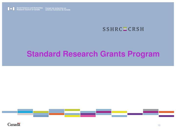 Standard Research Grants Program