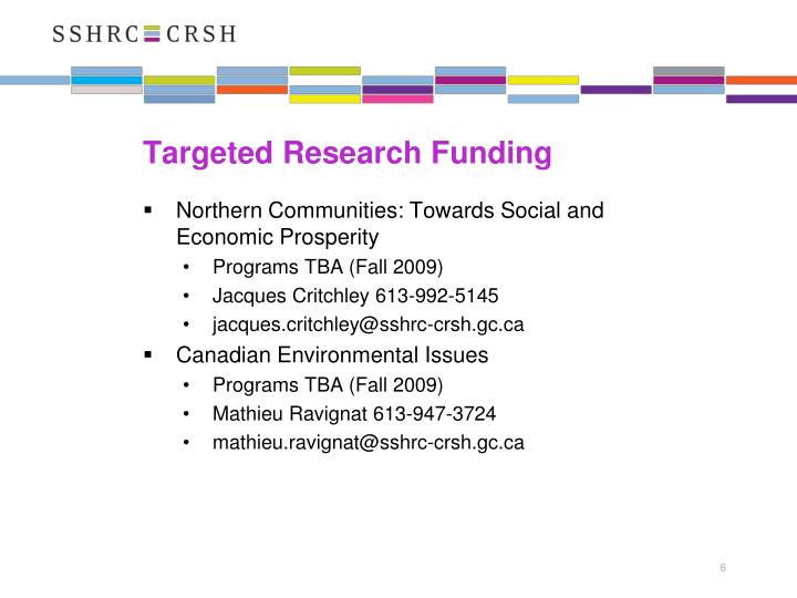 Targeted Research Funding